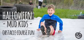 halloween kids obstacle course fun 2 5km of obstacles and mud