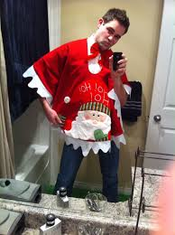 ugly christmas sweater i mean poncho i mean tree skirt lol