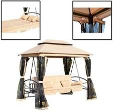 Swings For Patios With Canopy Outdoor Patio Swing Set 2 Person Armrest Cup Holder Steel Seat