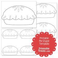 printable pie shape template u2014 printable treats com