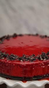bloody red velvet cheesecake recipe tastemade