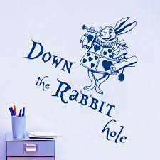 popular designer babies quotes buy cheap designer babies quotes wall decal quote down the rabbit hole rabbit wall sticker alice in wonderland design baby nursery