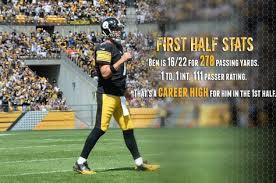 Steel Curtain Pictures Ben U0027s Career High First Half Steelers Pinterest Career
