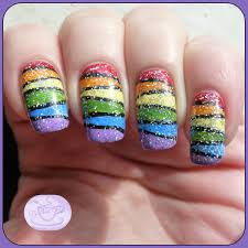 13 days of january nail art challenge rainbow nails pointless cafe