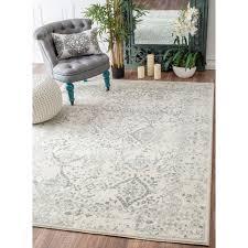 7 x 10 area rug nuloom vintage floral ornament ivory rug 8 u0027 x 10 u0027 ivory grey