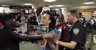 Barnes Noble 5th Ave Kim Kardashian Ambushed By Angry Fur Activists At Book Event Ny
