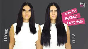 Sarahs Hair Extensions by How To Apply Tape Hair Extensions Human Hair Extensions Online