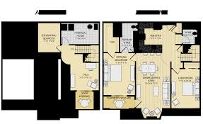 2 Story Apartment Floor Plans Home Design Beautiful 2 Bedroom Cabin Plans For Hall Kitchen