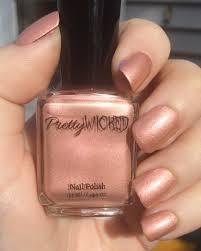 rose gold nail polish millie polish rose gold pink and