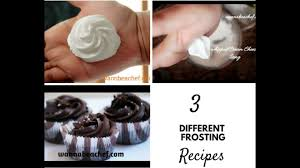 3 different frosting recipes whipping cream cream cheese