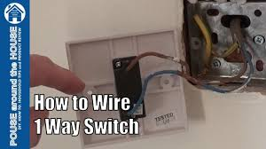 one way light how to wire a 1 way light switch one way lighting explained youtube