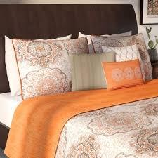 blue and orange bedding orange bedding sets you ll love wayfair