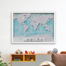 Self Adhesive Old World Map Scratch Map Personalized World Map Poster
