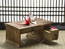 Japanese Desk Origami Desk In A Traditional Japanese Tatami Room Miniature