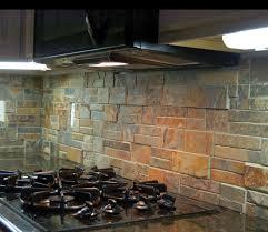 rustic backsplash for kitchen rustic kitchen back splash using terracotta stack ledge