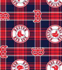 boston sox plaid fleece fabric joann