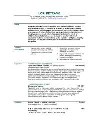 Successful Resume Samples by Teaching Resume Template Berathen Com
