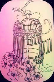 open bird cage tattoo