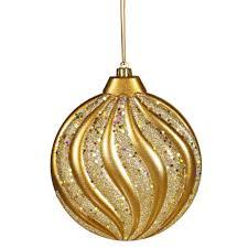 decoration inch matte glitter swirl ornament silver