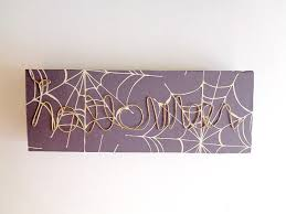 diy halloween wire word block art