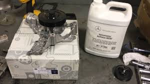 2011 mercedes benz ml350 4matic water pump replacement youtube