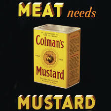 colman s mustard new meat needs colmans mustard coaster vintage retro drinks mat