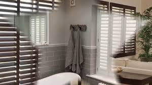 wooden shutter blinds for bay windows youtube