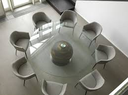 Large Glass Dining Tables Large Round Glass Dining Table Seats 8 What Is The Advantage Of
