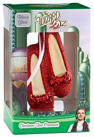 curiozity corner ruby slippers glass ornament