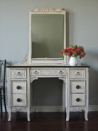 white stained wooden bedroom vanity pile up drawers and rectangle white painted wooden vanity