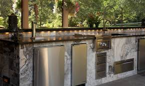 Outdoor Kitchen Lighting Ideas Gorgeous Outdoor Kitchen Countertop Design With Granite Material