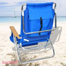Lay Flat Lounge Chair Amazon Com Beachmall Beach Chair With Drink Holder And Storage
