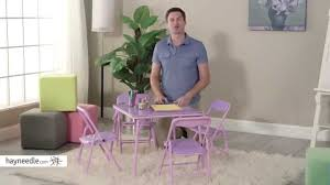 Childrens Folding Table And Chair Set Showtime 3 Piece Childrens Folding Table And Chair Set Product
