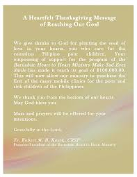 the barnabite to ministry a heartfelt thanksgiving