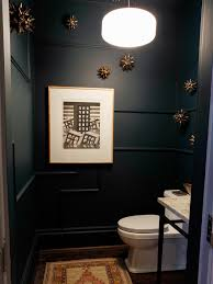 Elegant Powder Room Bathroom Black And White Powder Room With Gold Accents Pictures