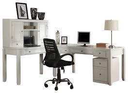 Warehouse Desks Boca 4 Piece L Shaped Desk Cottage White Desks And Hutches By