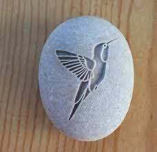 hummingbird stone talisman home decor paperweight u2013 sjengraving