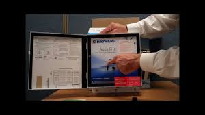 hayward goldline aqua rite salt chlorine generator box tour video