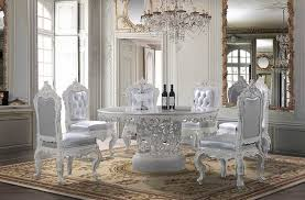 homey design victorian round dining table with decorative center