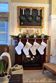 Fireplace Mantel Decor Ideas by 114 Best Christmas Mantle Ideas Images On Pinterest Christmas