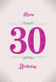 elegant dotted 30th birthday free printable birthday card