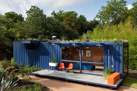 architecture shipping container guest house design alongside