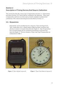 practice guide stopwatches and timer calibrations