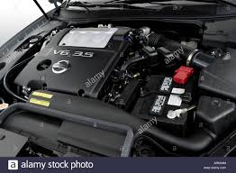 gray nissan maxima 2008 nissan maxima 3 5 se in gray engine stock photo royalty