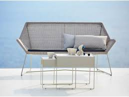 breeze two seater sofa white grey caneline outdoor chairs hgfs