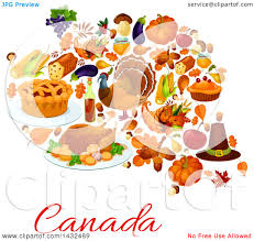 clipart of a canadian thanksgiving design royalty free vector