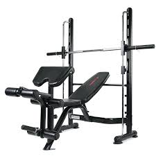 Nautilus Bench Press Olympic Weight Set With Bench And Squat Rack Adidas Power Combo