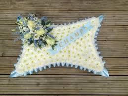 Baby Blue Cushions Cushions And Pillows Funeral Tributes Hydes Florist