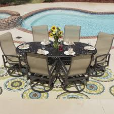 High Back Sling Patio Chairs by Charming Outdoor Swivel Glider Patio Chairs With Cast Iron