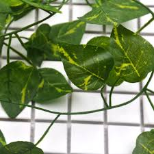 online shop 1pcs green man made silk ivy leaf garden plastic plant
